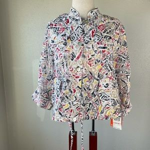 NWT Hearts of Palm Button Down Shirt Size 10